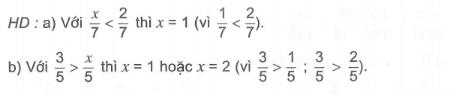 So sánh hai phân số bài tập Toán lớp 5