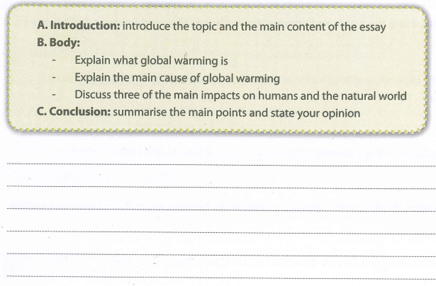 write an essay of between 160-180 words on global warming