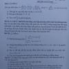 Đề thi lớp 9 môn Toán Quận Hà Đông Hà Nội