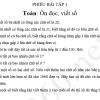 Bài tập ôn hè môn Toán, Tiếng Việt lớp 3