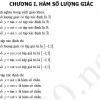 Bài tập trắc nghiệm chương I: Hàm số lượng giác - Toán 11
