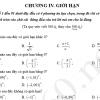 Bài tập trắc nghiệm chương IV: Giới hạn
