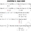 Bài tập trắc nghiệm chương V: Đạo hàm
