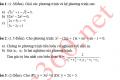 Đề tham khảo môn toán tuyển sinh vào 10