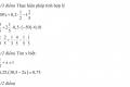 Đề kiểm tra học kỳ 2 môn toán lớp 6