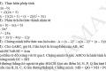 Đề kiểm tra giữa HKI môn toán 8