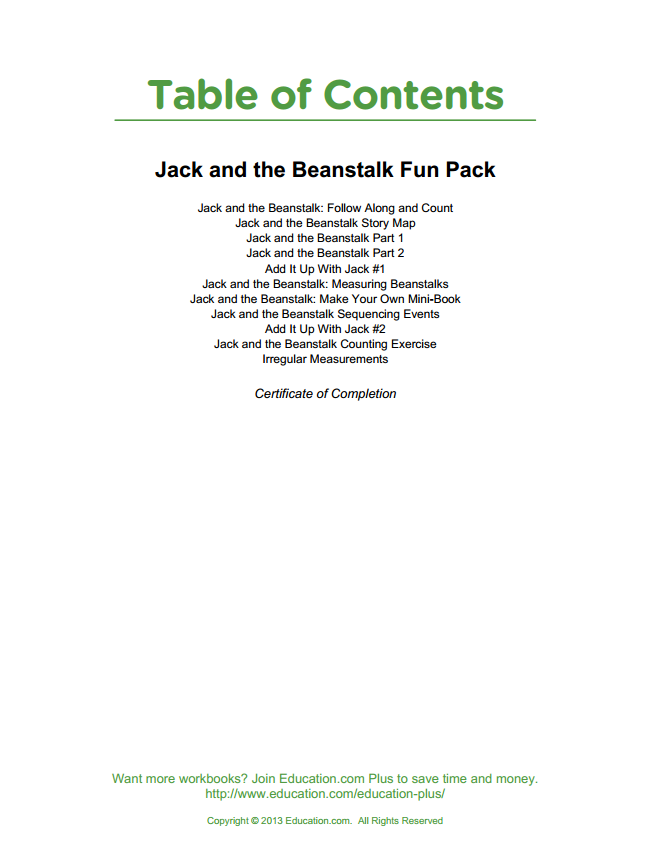 Jack and the Beanstalk Fun Pack
