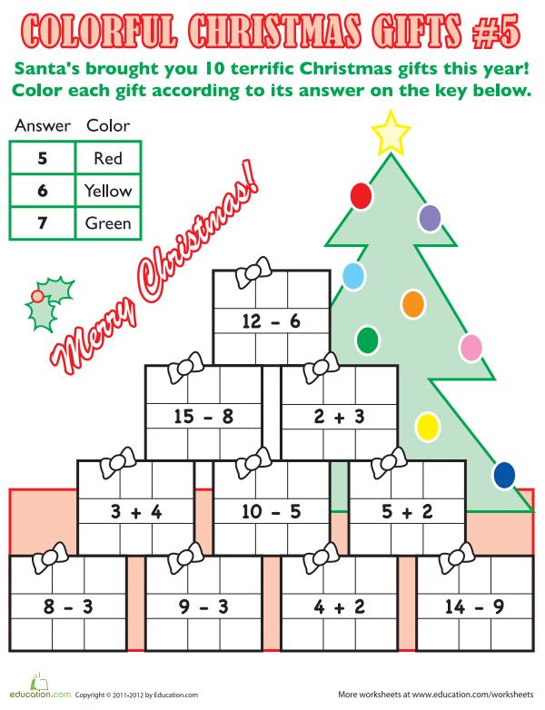 Colorful Christmas Math #5