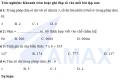 Bài thi kiểm định chất lượng môn toán lớp 3