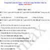 Bài tập ôn hè Tiếng Việt